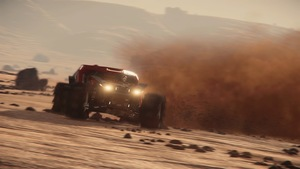 Racing on mars in star citizen game