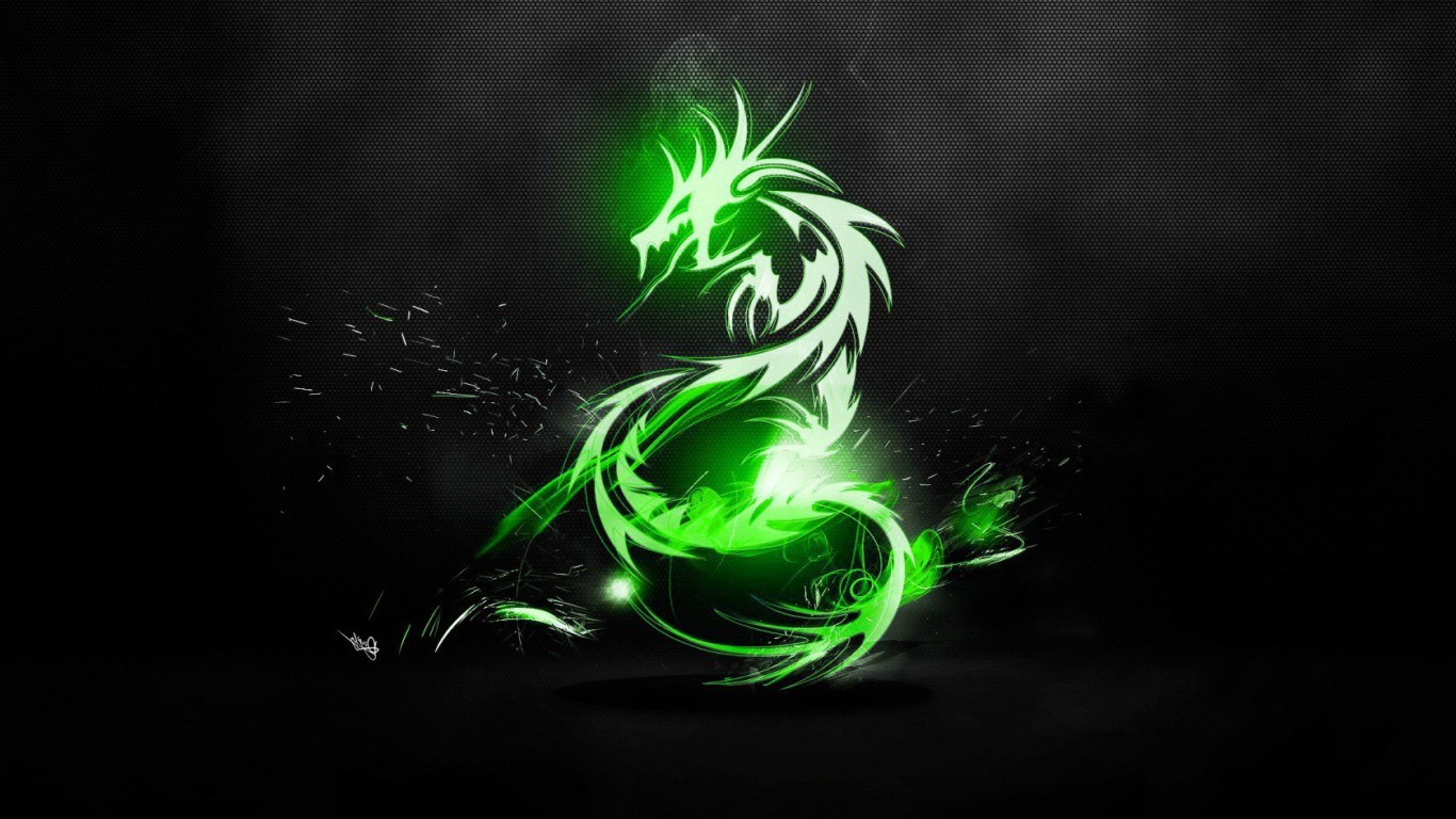 Green dragon wallpapers hd