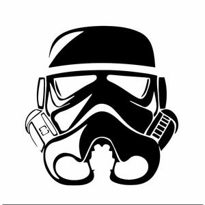 Stormtrooper drawing black and white